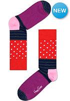 HAPPY SOCKS Socks Stripes & Socks red/lila
