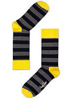 HAPPY SOCKS Stripe Socks black/grey/yellow