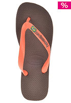 HAVAIANAS Brasil Logo Sandal dark brown/orange