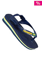 HAVAIANAS KIDS/ Baby Brasil Logo Sandals navy/yellow