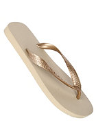 HAVAIANAS Top Metallic Sandal sand grey/light golden