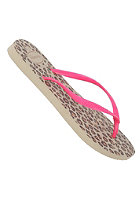 HAVAIANAS Womens Slim Animals Fluo Sandal sand grey