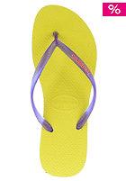 HAVAIANAS Womens Slim Logo Sandal neon yellow