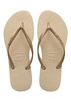HAVAIANAS Womens Slim sand grey/light golden