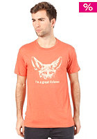 HEADLINE Great Listener S/S T-Shirt heather orange