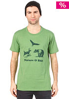 Nature & Shit S/S T-Shirt heather kelly green