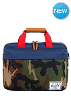 HERSCHEL SUPPLY CO Clark Messenger Bag woodland camo/navy/red