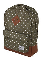 HERSCHEL SUPPLY CO Heritage Kids Backpack olive polka dot