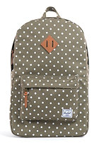 HERSCHEL SUPPLY CO Heritage Plus Backpack olive polka dot