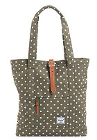 HERSCHEL SUPPLY CO Market Tote Bag olive polka dot