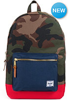 HERSCHEL SUPPLY CO Settlement Backpack woodland camo navy red