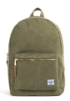 HERSCHEL SUPPLY CO Settlement Canvas Backpack washed army