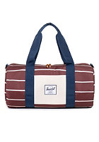 HERSCHEL SUPPLY CO Sutton Mid-Volume Duffle Bag rust stripe/ bone navy