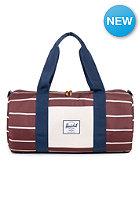 HERSCHEL SUPPLY CO Sutton Mid-Volume Duffle Bag rust stripe/ bone navy