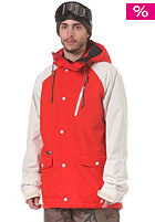 HOLDEN Varsity Jacket fiery red/bone