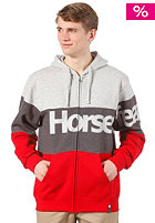 HORSEFEATHERS Scale Zip Sweat red