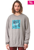 HUF Box Logo Fill Floral Crew Sweat grey heather
