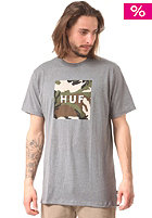 HUF Box Logo Fill Woodland Camo S/S T-Shirt grey heather