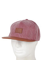 HUF Leather Circle H Snapback Cap maroon