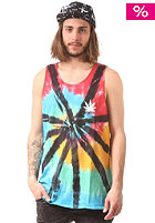 HUF Leaves Tie Dye Tank Top black wash