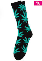 Plantlife Crew Sock black / mint