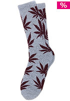 HUF Plantlife Crew Sock gray heather / wine