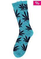 HUF Plantlife Crew Sock jade heather / navy