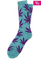 HUF Plantlife Crew Sock jade heather/purple