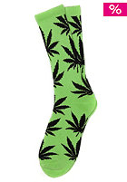 HUF Plantlife Crew Sock lime / black