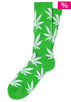 HUF Plantlife Crew Sock lime/white