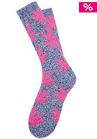 HUF Plantlife Crew Sock navy heather/pink