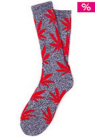 HUF Plantlife Crew Sock navy heather/red