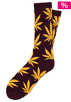 HUF Plantlife Crew Sock wine/gold