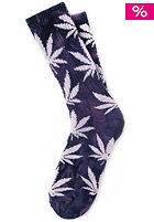 HUF Tie Dye Plantlife Crew Sock purple