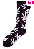 HUF Tie Dye Plantlife Crew Sock wine