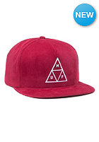 Triple Triangle Snapback Cap berry
