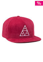 HUF Triple Triangle Snapback Cap berry