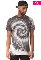 HUF Triple Triangle Spiral Wash S/S T-Shirt grey scale
