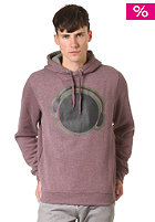 HUM�R Longo Hooded Sweat weinrot