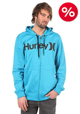 HURLEY Face Off Therma Hooded Zip Sweat cyan