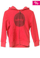 HURLEY Hand Crush Only Hooded Sweat heather red