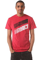 HURLEY Icon Slash S/S T-Shirt heather red