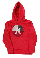 HURLEY Kids Circle Icon Hooded Sweat heather red