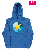 Kids Circle Icon Hooded Sweat heather royal