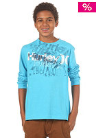 HURLEY KIDS/ Sketched Pier S/S T-Shirt heather cyan