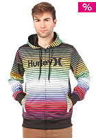 HURLEY Multi Stripe Hooded Zip Sweat multi