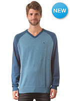 HURLEY Only V-Neck Sweat heather rift blue
