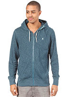 HURLEY Retreat Line Insert Hooded Zip Sweat heather storm blue
