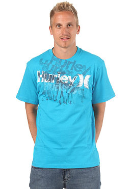 HURLEY Sketched Pier S/S T-Shirt cyan