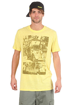 HURLEY West Page 2 S/S T-Shirt heather saturn yellow